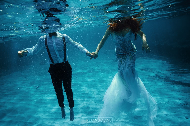 fotos acuaticas de boda