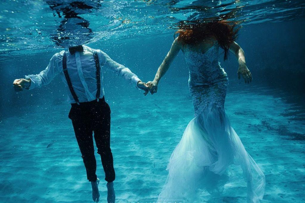 Fotografías de boda acuáticas